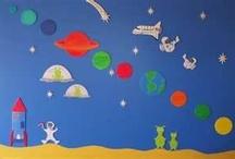 outer space class decor idea