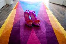 Rainbow hues / Vibgyor colours in carpets