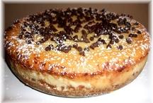 Italian Cheesecakes & Breadpudding / A Balanced Diet Is a Cheesecake And a Breadpudding In Each  Hand