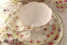 tea cups, tea pots and ...