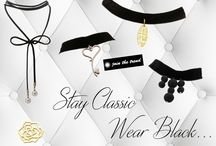 Stay Classic Wear Black... / Sometimes classic is enough... Just wear a black velvet choker !!! Ανακάλυψε τη συλλογή στο https://goo.gl/XspXQt !