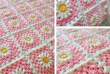 flower square baby blanket