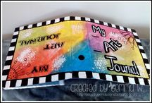 My Journal52 2014 pages / I will share my Art Journal pages for Journal52 2014 Workshop i have joined xx
