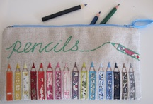 APPLIQUE PENCIL CASES