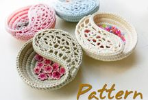 Crochet bowls and boxes