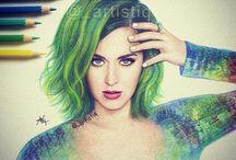 Katy Perry tekenen