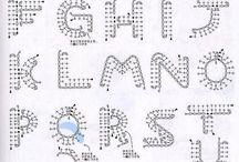 Uncinetto: Lettere e Numeri