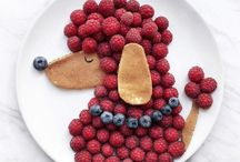 lustige Obst- und Gemüseteller