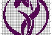 Haft krzyżowy - poduszki