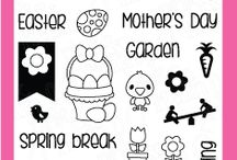 Planning Spring / Clear stamp from pinkandmain.com