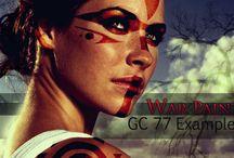 Tribal/warrior makeup