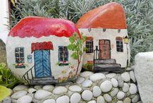 casas pintadas en  piedra