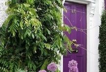 Lila dörr