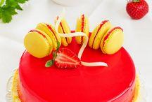 Лимонно клубничный торт