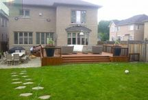 Landscaping Project with 2 Decks and Interlocking Area