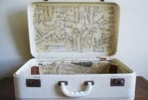 decoupage /modge podge/suitcases