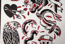 Trad Flash / Traditional style tattoo - Flash