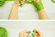 tejido en manos