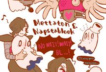 napstablook and mettaton