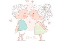 desenhos casal
