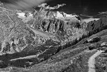 Zwart-wit-fotografie in de bergen