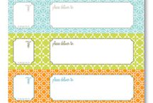 Free printables / Labels and cute things