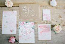 Water colour stationery