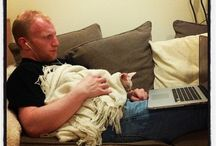 Guys with Cats / Because who doesn't love a picture of a guy cuddling a kitty? / by Ashley Carnes