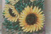 Minhas  pinturas / Pinturas em espátula, em óleo. Tendência expressionista.