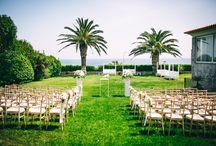 Real Wedding |  Garden and Sea Scenario / The Garden View as the backgorund for a lovely Wedding Ceremony