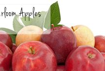 Falling for Heirloom Apples / Heirloom apples are in season! Enjoy the unique, fresh tastes of a wide variety of apples. Ask your produce manager for them!