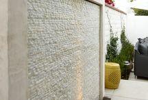 Water wall / Muro acqua esterno giardini