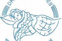 Embroidery machinaal / Borduren op de borduurmachine. en het digitaliseren van een plaatje