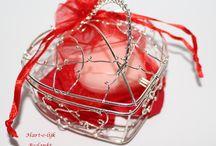 Bedankjes voor huwelijk / Hart zeepjes een heerlijk geurend bedankje