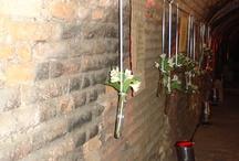 Decoração flores mesas, tecidos ...