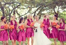 Orange & Pink wedding / by Wedding & Style by CliodhnaL