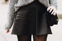 Leather skirt and pants