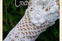 szydełkowe rękawiczki (gloves crochet)