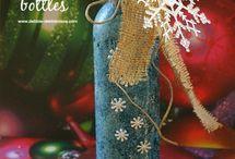 botellas de Navidad para las chicas