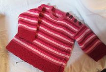 Knitted Jumpers and Hooded Jackets for Kids over Winter / Hand Knitted Jumpers and jackets for Birth too 2 Years all knitted from 100% wool