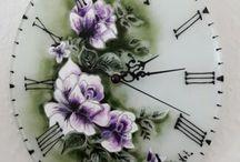 Glasmalen Uhr/ Üvegfestés òra