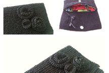 Bolsas / Bolsas feitas à mão em tricô