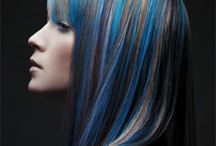 Mechas Azul