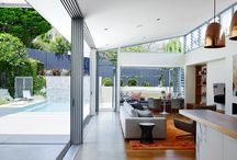 The Pavilion House by A&P / This family home adheres to the notion of comfortable and practical sophistication. The material and furnishing palette are both highly detailed and distinctly modern. The success of this project relies on celebrating the true joy of living in Sydney – the sun, the water, the light and the breeze.  The architecture, interiors, furnishing and landscape design all conspire to create the Pavilion House in Sydney's Eastern Suburbs.  / by Arent&Pyke