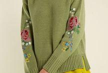 Вязание спицами. Изделия с вышивкой.