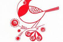 uccellini stilizzati e non