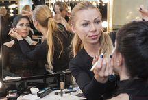 En Clases del Máster / Momentos y vivencias de las clases de maquillaje. Preparándose para los Beauties finales.