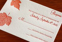 Wedding Stationary / Save the dates, invitations, RSVPs, programs, and thank you cards. All your needs for stationary.