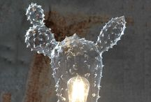 Home decoration. Lamp. Made in Italy / Handcrafted mouth blown glasses lamp. Made in Italy