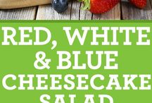 red,white and bluecheesecake salad